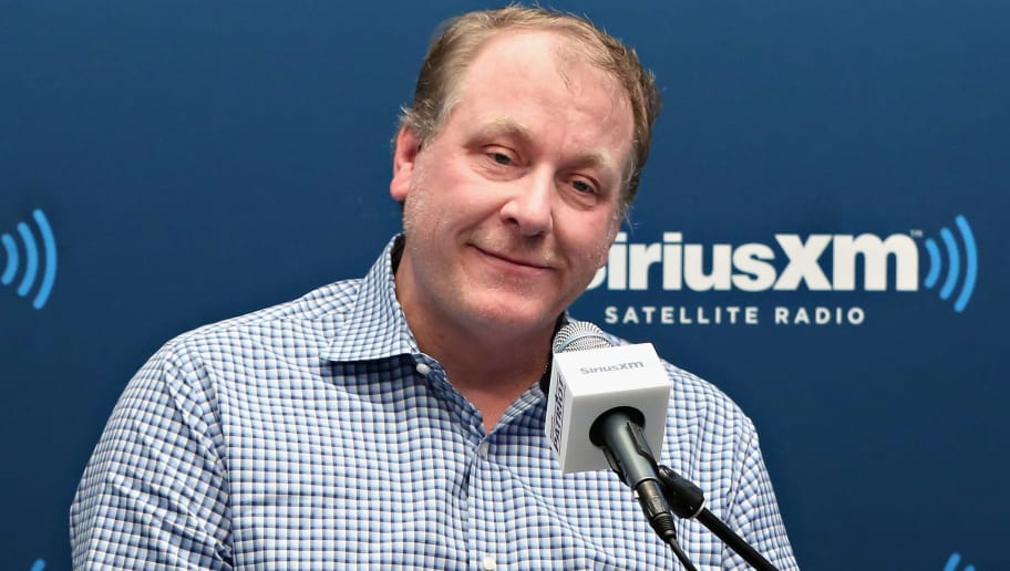 NEW YORK, NY - APRIL 27:  Former ESPN Analyst Curt Schilling talks about his ESPN dismissal and politics during SiriusXM's Breitbart News Patriot Forum hosted by Stephen K. Bannon and co-host Alex Marlow at the SiriusXM Studio on April 27, 2016 in New York, New York.  (Photo by Cindy Ord/Getty Images for SiriusXM)