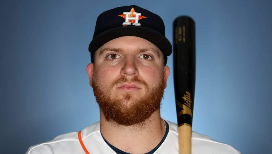 WEST PALM BEACH, FLORIDA - FEBRUARY 19: AJ Reed #44 of the Houston Astros poses for a portrait during photo days at FITTEAM Ballpark of The Palm Beaches on February 19, 2019 in West Palm Beach, Florida. (Photo by Rob Carr/Getty Images)