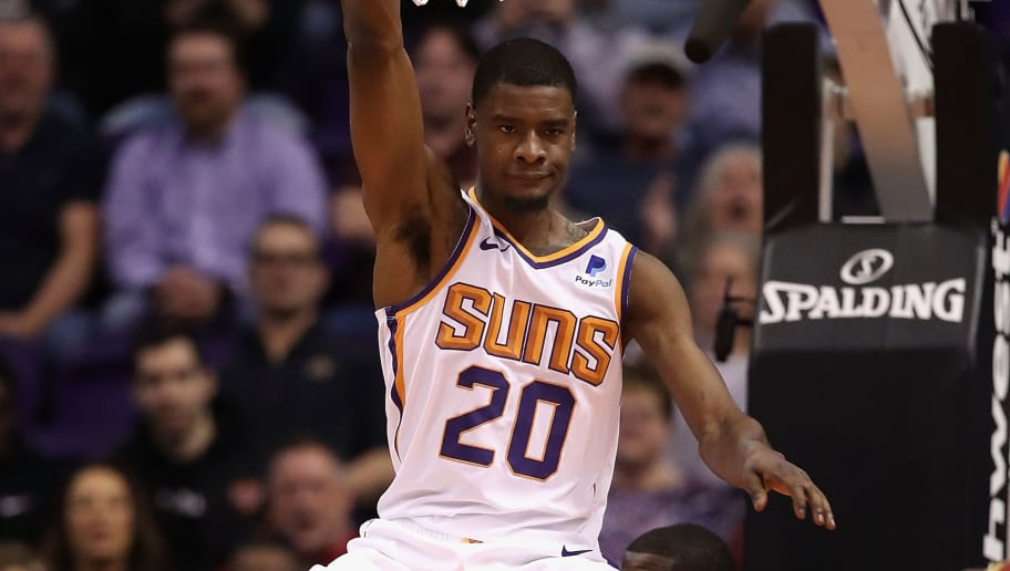PHOENIX, ARIZONA - FEBRUARY 04:  Josh Jackson #20 of the Phoenix Suns reacts after slam dunking the ball against the Houston Rockets during the first half of the NBA game at Talking Stick Resort Arena on February 04, 2019 in Phoenix, Arizona. (Photo by Christian Petersen/Getty Images)