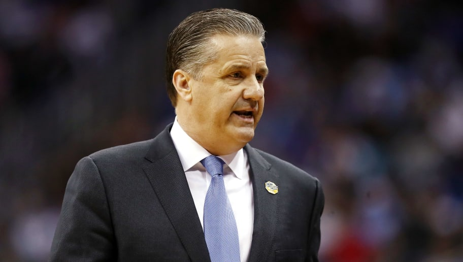 KANSAS CITY, MISSOURI - MARCH 29: Head coach John Calipari of the Kentucky Wildcats reacts against the Houston Cougars during the 2019 NCAA Basketball Tournament Midwest Regional at Sprint Center on March 29, 2019 in Kansas City, Missouri. (Photo by Jamie Squire/Getty Images)