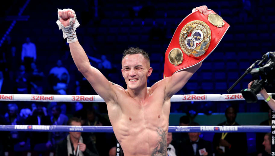 MANCHESTER, ENGLAND - DECEMBER 22:  Josh Warrington celebrates victory after the IBF World Featherweight Championship title fight between Josh Warrington and Carl Frampton at Manchester Arena on December 22, 2018 in Manchester, England.  (Photo by Alex Livesey/Getty Images)