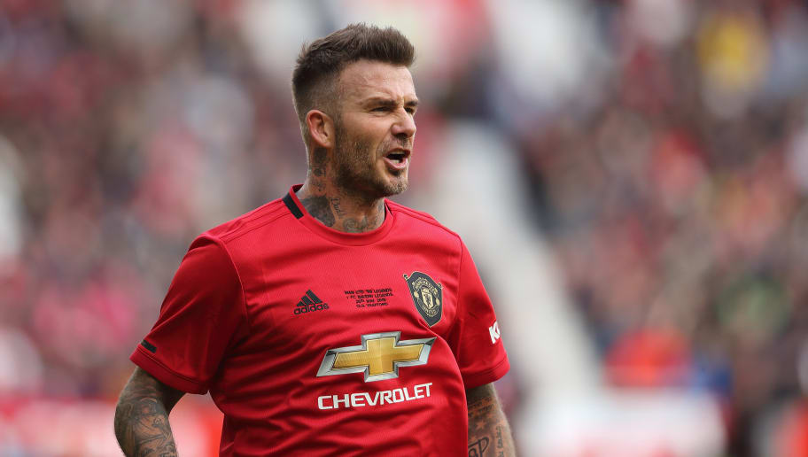 David Beckham Drops Photo In Manchester United S Zebra Kit Ahead Of Release