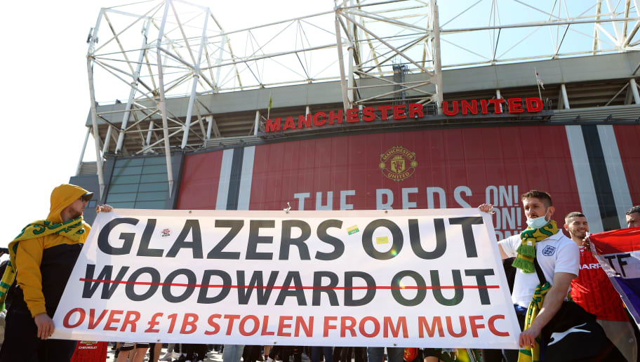 Manchester United Supporters Protest Against The Glazer Ownership