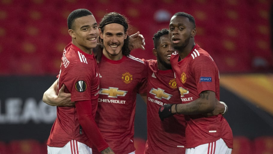 Edinson Cavani, Mason Greenwood, Aaron Wan-bissaka, Fred - Brazilian Soccer Midfielder - Born 1993