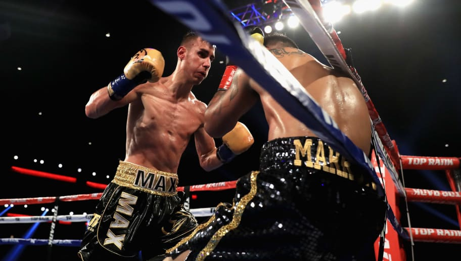 LOS ANGELES, CA - AUGUST 05:  Maxim Dadashev (L)exchanges punches with  Jose Marrufo during their Super Lightweight fight at the Microsoft Theater on August 5, 2017 in Los Angeles, California.  (Photo by Sean M. Haffey/Getty Images)