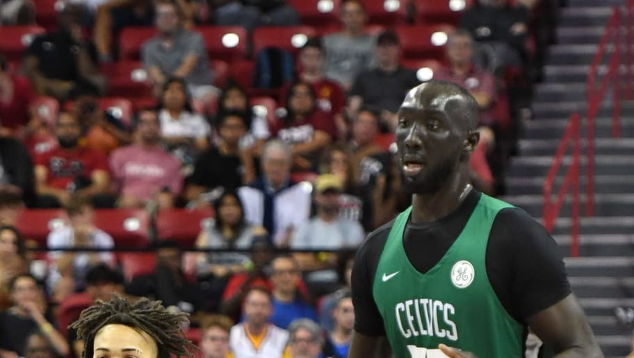 Side By Side Photo Of Celtics Tacko Fall And Carsen Edwards Is Hard