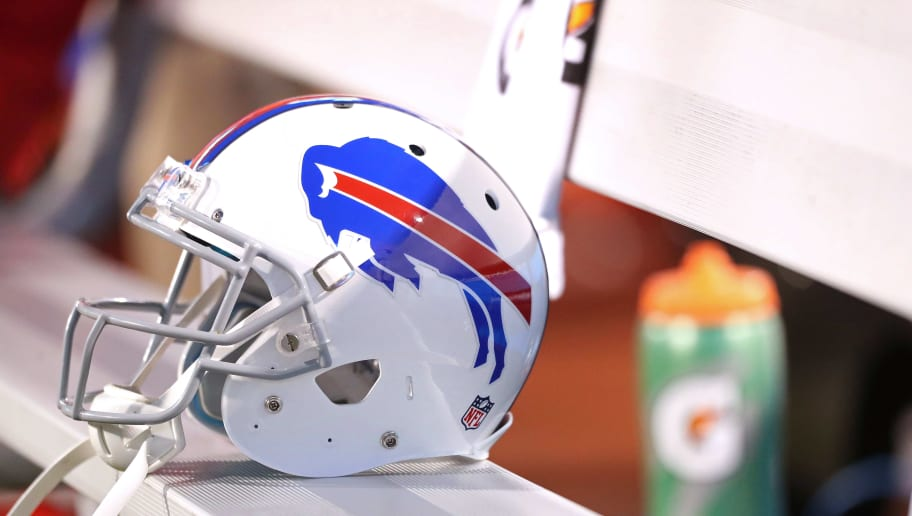 ORCHARD PARK, NY - SEPTEMBER 15: A Buffalo Bills helmet sits on the bench before the game against the New York Jets at New Era Field on September 15, 2016 in Orchard Park, New York.  (Photo by Brett Carlsen/Getty Images)
