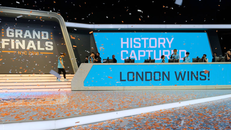 NEW YORK, NY - JULY 28:  Confetti is seen onstage after London Spitfire won the Overwatch League Grand Finals - Day 2  at Barclays Center on July 28, 2018 in New York City.  (Photo by Matthew Eisman/Getty Images for Blizzard Entertainment )