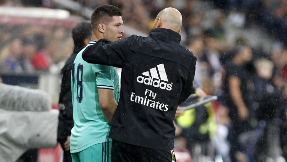 Luka Jovic, Zinedine Zidane