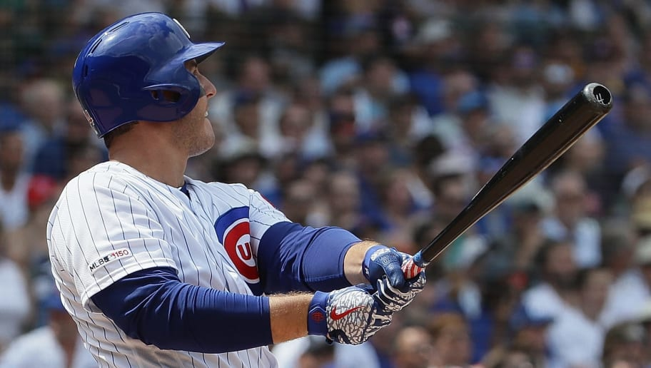CHICAGO, ILLINOIS - JULY 19: Anthony Rizzo #44 of the Chicago Cubs hits a grand slam home run in the 3rd inning against the San Diego Padres at Wrigley Field on July 19, 2019 in Chicago, Illinois. (Photo by Jonathan Daniel/Getty Images)