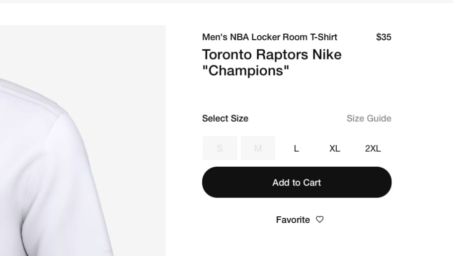 2af7c33953c5 Nike Website Started Selling Raptors NBA Championship T-Shirts Way Too Early