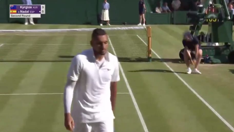 Video Nick Kyrgios Aces Rafael Nadal On Quick Underhand Serve At