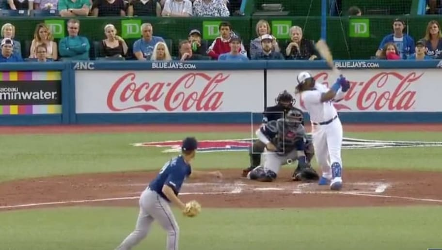 VIDEO: Vladimir Guerrero Jr. Emulates His Dad and Crushes a Home Run on a Pitch at His Ankles