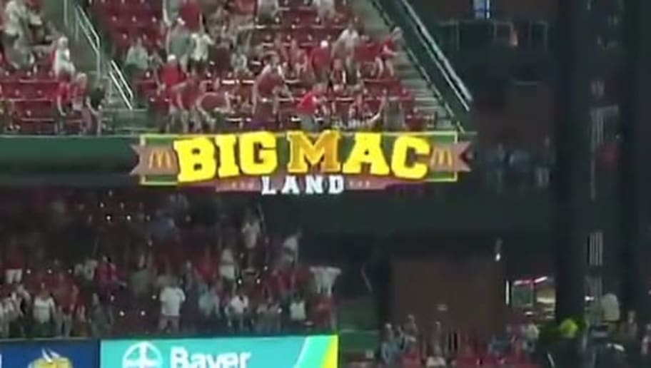 VIDEO: Paul DeJong Literally Breaks the 'M' in Big Mac Land With Solo Bomb at Busch Stadium