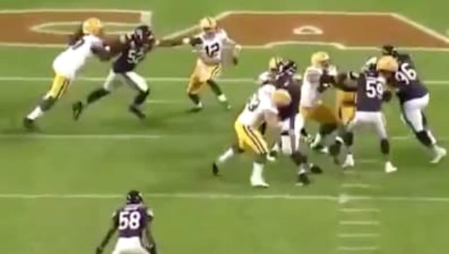 VIDEO: Thread of Packers Players Getting Away With Holds on Khalil Mack is Absolutely Wild