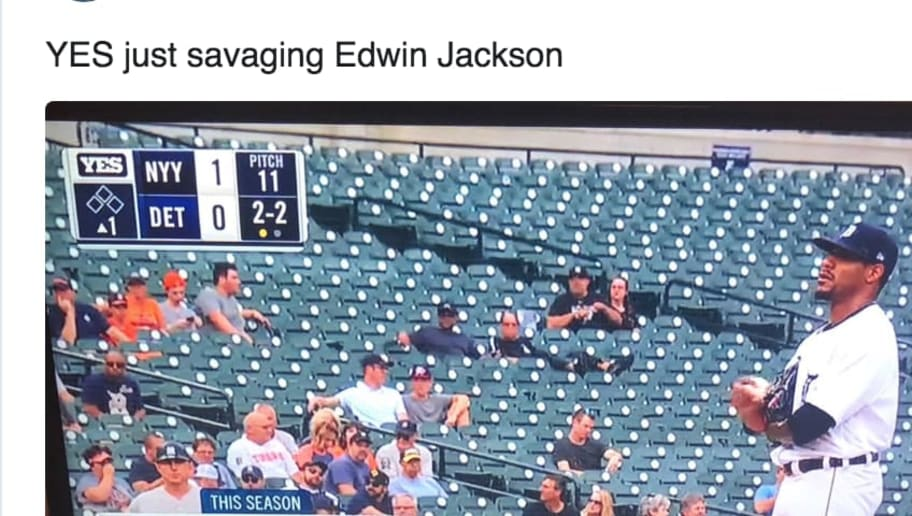 Yankees TV Network Absolutely Savages Tigers Starter Edwin Jackson With Incredible Graphic
