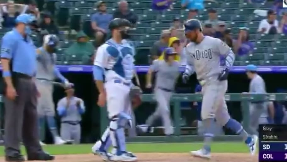 The Rockies intentionally walked two Padres batters to get to the pitcher, and the plan backfired.