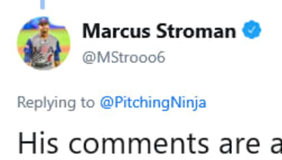 Marcus Stroman bit back at Red Sox commentator Dennis Eckersley's criticism.