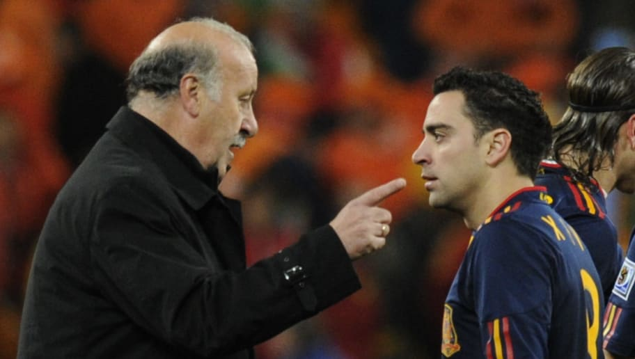 Vicente del Bosque coached Xavi during Spain's World Cup 2010 and Euro 2012 triumphs