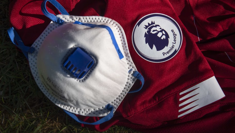 The Premier League Logo with a Protective Face Mask