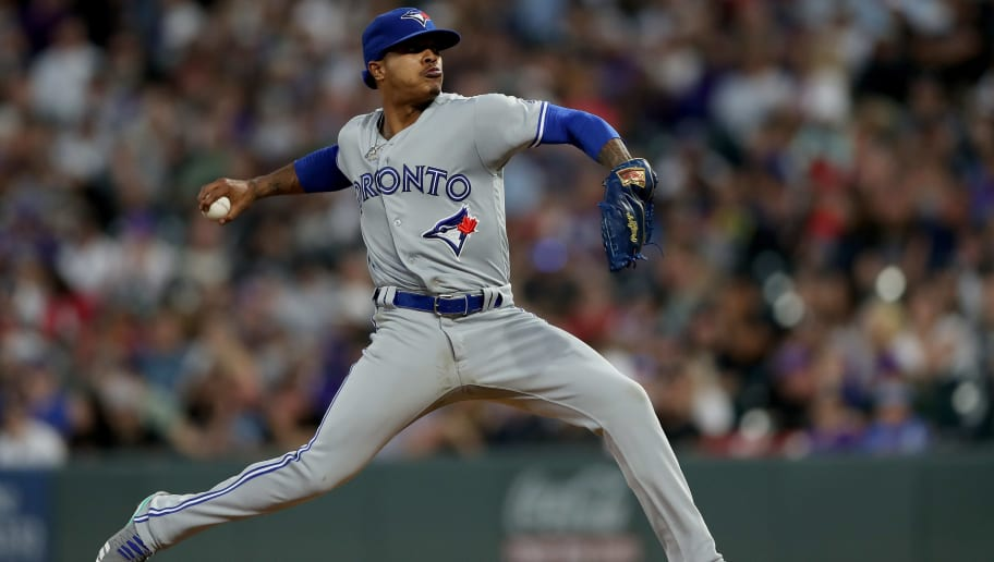 DENVER, COLORADO - JUNE 01: Starting pitcher Marcus Stroman #6 of the Toronto Blue Jays throws in the fifth inning against the Colorado Rockies at Coors Field on June 01, 2019 in Denver, Colorado. (Photo by Matthew Stockman/Getty Images)