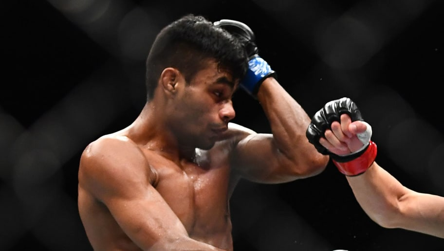 MELBOURNE, AUSTRALIA - FEBRUARY 10: Raulian Paiva fights against Kai Kara France in their Flyweight fight during UFC234 at Rod Laver Arena on February 10, 2019 in Melbourne, Australia. (Photo by Quinn Rooney/Getty Images)