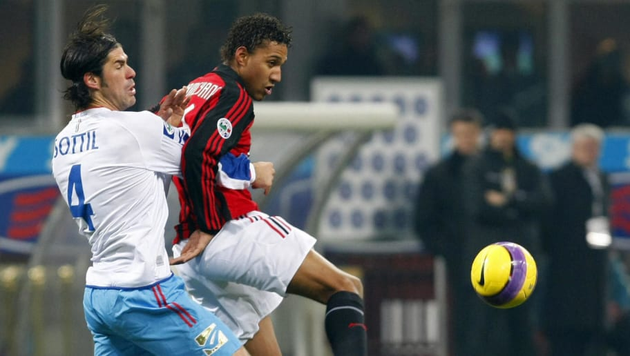 A.C. Milan's French forward Willy Aubame