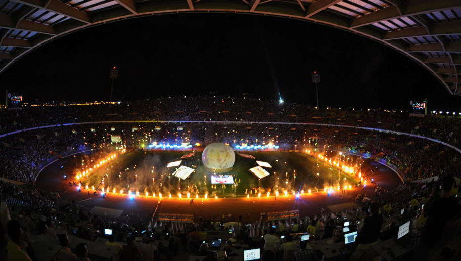 A general view shows the opening ceremony of the FIFA under-20 World Cup at the stadium of Borg el-Arab, 220 kms north of Cairo, on September 24, 2009. Twenty four countries are competing for the trophy in Egypt over the period of 23 days. AFP PHOTO/KHALED DESOUKI (Photo credit should read KHALED DESOUKI/AFP/Getty Images)