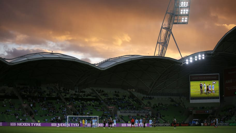MELBOURNE, AUSTRALIA - DECEMBER 02: A general view during the round six A-League match between Melbourne City and the Newcastle Jets at AAMI Park on December 02, 2018 in Melbourne, Australia. (Photo by Dylan Burns/Getty Images)