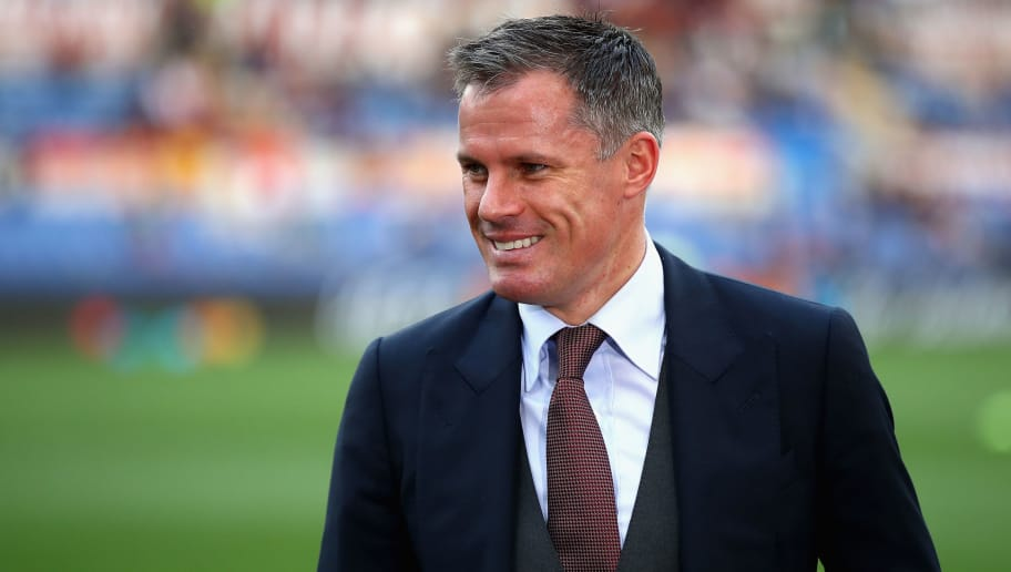 ROME, ITALY - MAY 02: Former Liverpool player Jamie Carragher is pictured prior to the UEFA Champions League Semi Final Second Leg match between A.S. Roma and Liverpool at Stadio Olimpico on May 2, 2018 in Rome, Italy.  (Photo by Julian Finney/Getty Images)