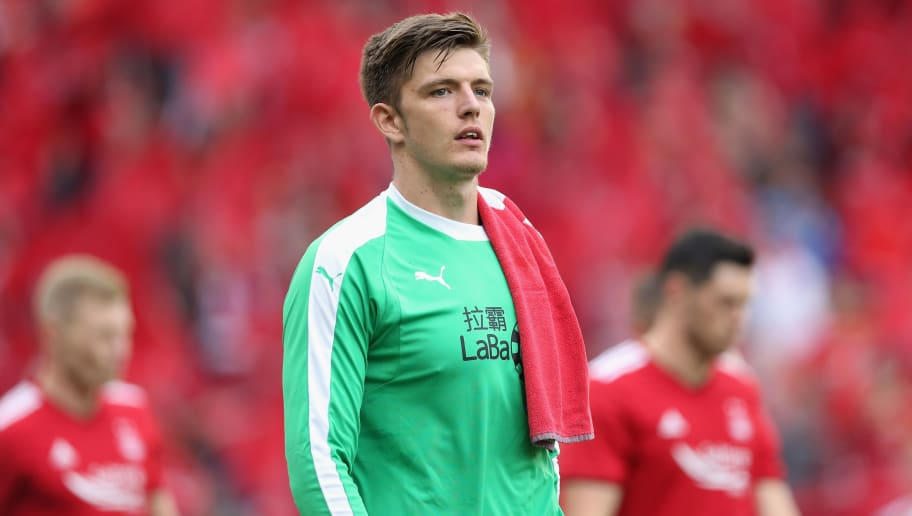 ABERDEEN, SCOTLAND - JULY 26: Nick Pope of Burnley looks on during the UEFA Europa League Second Qualifying Round 1st Leg match between Aberdeen and Burnley at Pittodrie Stadium on July 26, 2018 in Aberdeen, Scotland.  (Photo by Ian MacNicol/Getty Images)