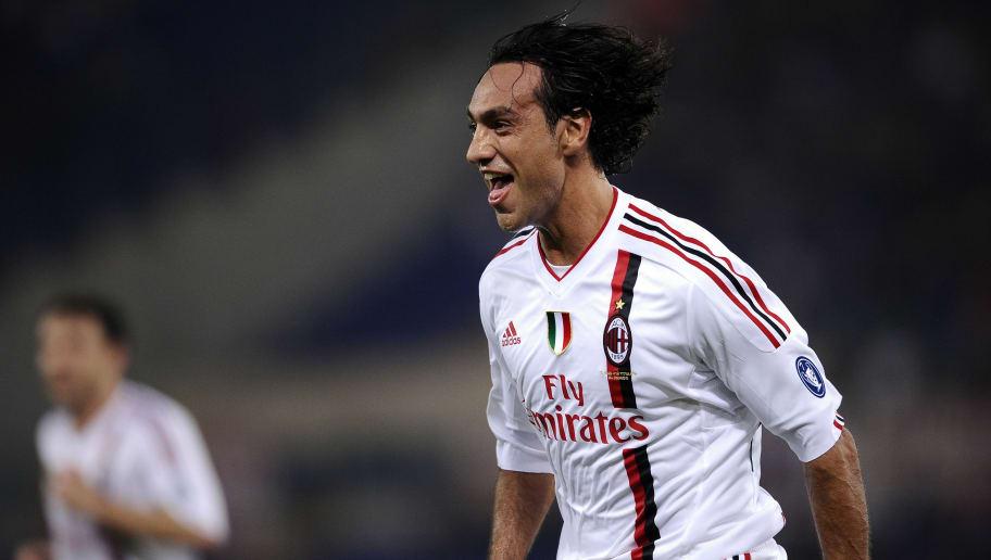 AC Milan's Alessandro Nesta (R) celebrat