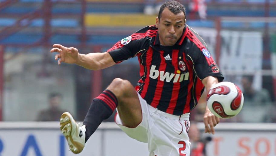 AC Milan's Brazilian defender Cafu contr...