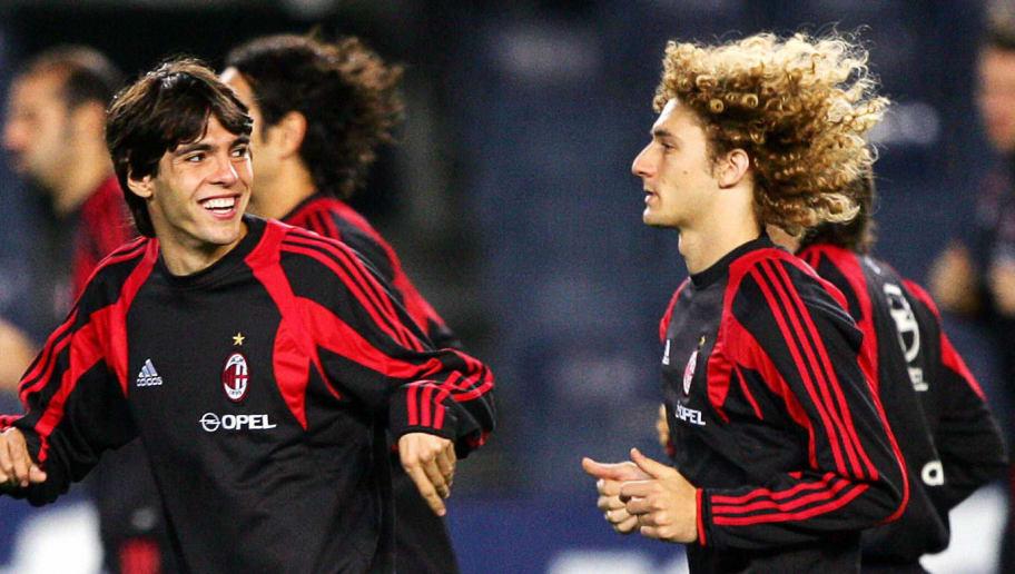 AC Milan's Brazilian Ricardo Kaka (L) an