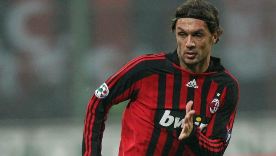AC Milan's defender Paolo Maldini runs f
