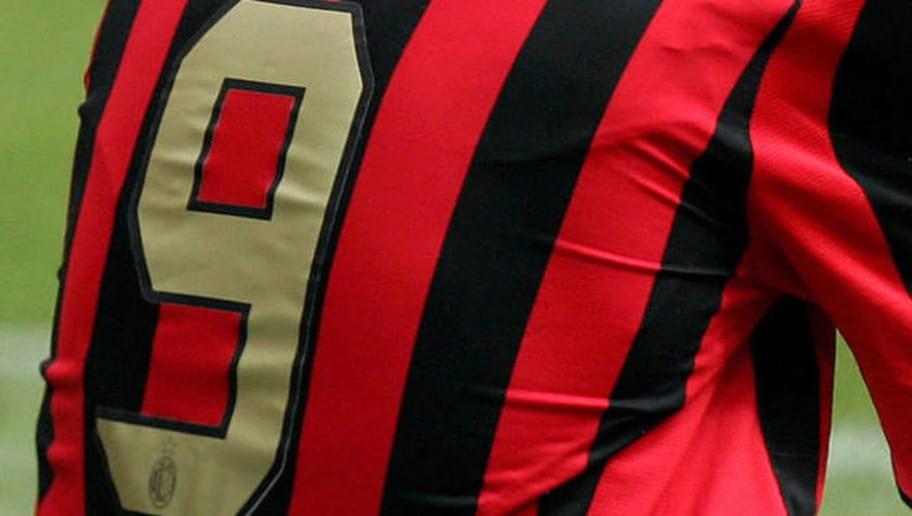 AC Milan's forward Filippo Inzaghi react