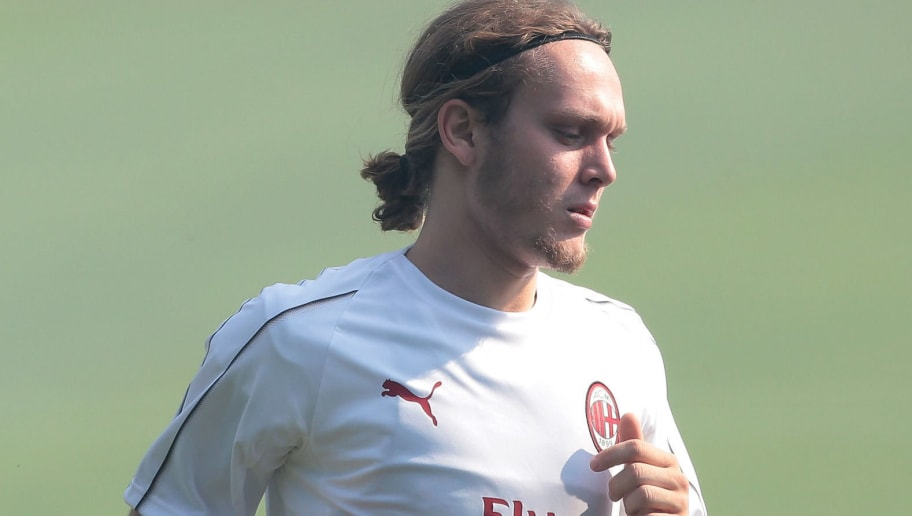 SOLBIATE ARNO, ITALY - JULY 09:  Alen Halilovic of AC Milan trains during the AC Milan training session at the club's training ground Milanello on July 9, 2018 in Solbiate Arno, Italy.  (Photo by Emilio Andreoli/Getty Images)