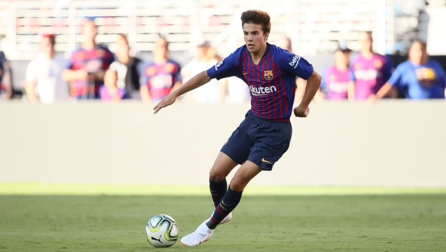 SANTA CLARA, CA - AUGUST 04: Ricky Puig of FC Barcelona during the International Champions Cup 2018 match between AC Milan and FC Barcelona at Levi's Stadium on August 4, 2018 in Santa Clara, California. (Photo by Matthew Ashton - AMA/Getty Images)