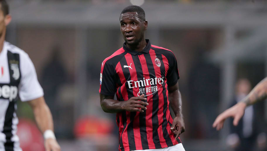 MILAN, ITALY - NOVEMBER 11: Cristian Zapata of AC Milan  during the Italian Serie A   match between AC Milan v Juventus at the San Siro on November 11, 2018 in Milan Italy (Photo by Jeroen Meuwsen/Soccrates/Getty Images)