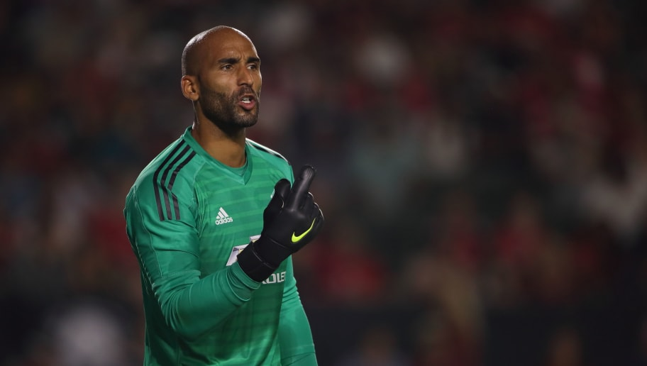 CARSON, CA - JULY 25: Lee Grant of Manchester United during the International Champions Cup 2018 match between AC Milan and Manchester United at StubHub Center on July 25, 2018 in Carson, California. (Photo by Matthew Ashton - AMA/Getty Images)
