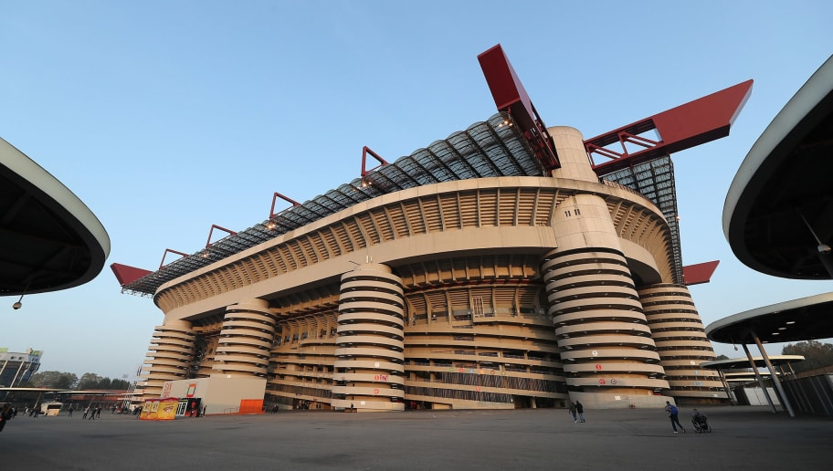 MILAN, ITALY - OCTOBER 25:  A general view of the stadium before the UEFA Europa League Group F match between AC Milan and Real Betis at Stadio Giuseppe Meazza on October 25, 2018 in Milan, Italy.  (Photo by Marco Luzzani/Getty Images)
