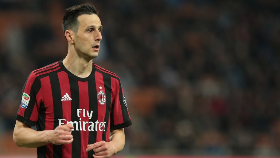 MILAN, ITALY - APRIL 08:  Nikola Kalinic of AC Milan looks on during the serie A match between AC Milan and US Sassuolo at Stadio Giuseppe Meazza on April 8, 2018 in Milan, Italy.  (Photo by Emilio Andreoli/Getty Images)