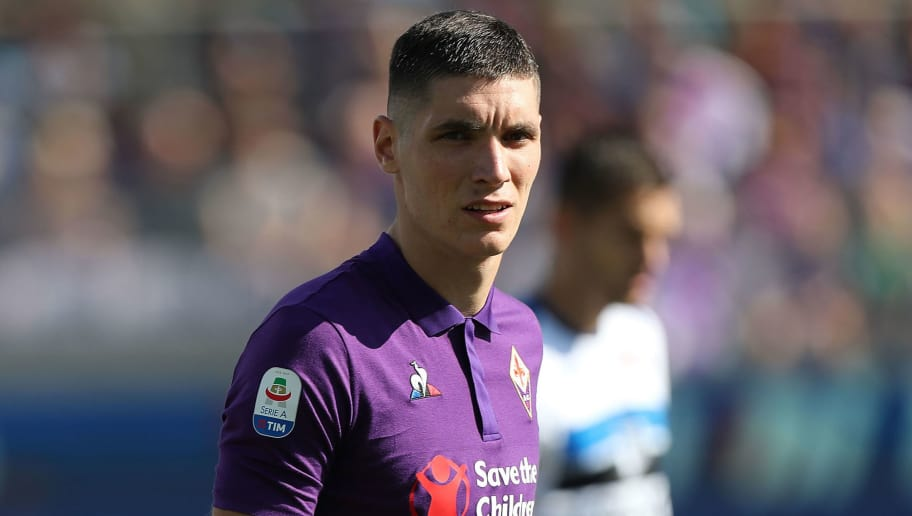 FLORENCE, ITALY - SEPTEMBER 30: Nikola Milenkovic of ACF Fiorentina looks on during the Serie A match between ACF Fiorentina and Atalanta BC at Stadio Artemio Franchi on September 30, 2018 in Florence, Italy.  (Photo by Gabriele Maltinti/Getty Images)