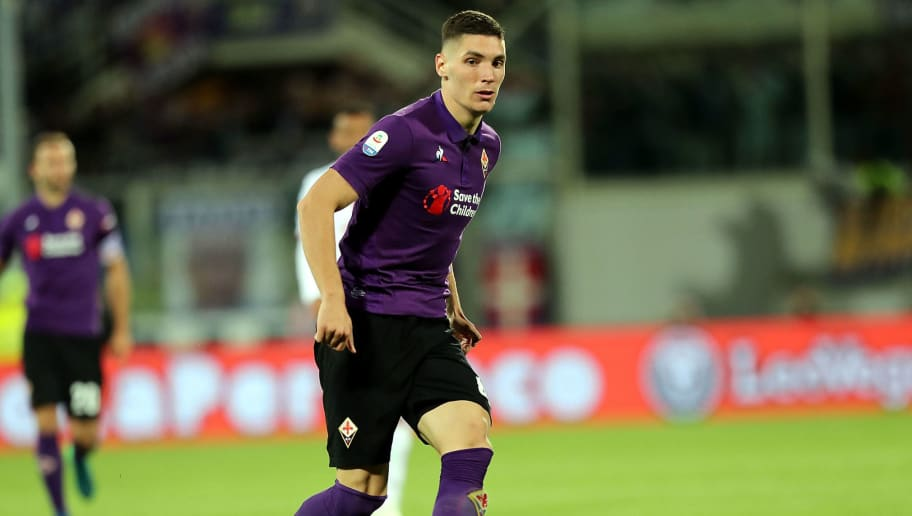 FLORENCE, ITALY - OCTOBER 21: Nikola Milenkovic of ACF Fiorentina in action during the Serie A match between ACF Fiorentina and Cagliari at Stadio Artemio Franchi on October 21, 2018 in Florence, Italy.  (Photo by Gabriele Maltinti/Getty Images)