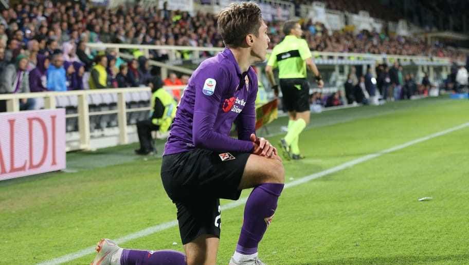 FLORENCE, ITALY - OCTOBER 21: Federico Chiesa of ACF Fiorentina reacts during the Serie A match between ACF Fiorentina and Cagliari at Stadio Artemio Franchi on October 21, 2018 in Florence, Italy.  (Photo by Gabriele Maltinti/Getty Images)