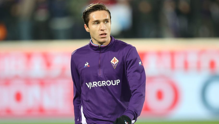 FLORENCE, ITALY - DECEMBER 01: Federico Chiesa of ACF Fiorentina during the Serie A match between ACF Fiorentina and Juventus at Stadio Artemio Franchi on December 1, 2018 in Florence, Italy.  (Photo by Gabriele Maltinti/Getty Images)