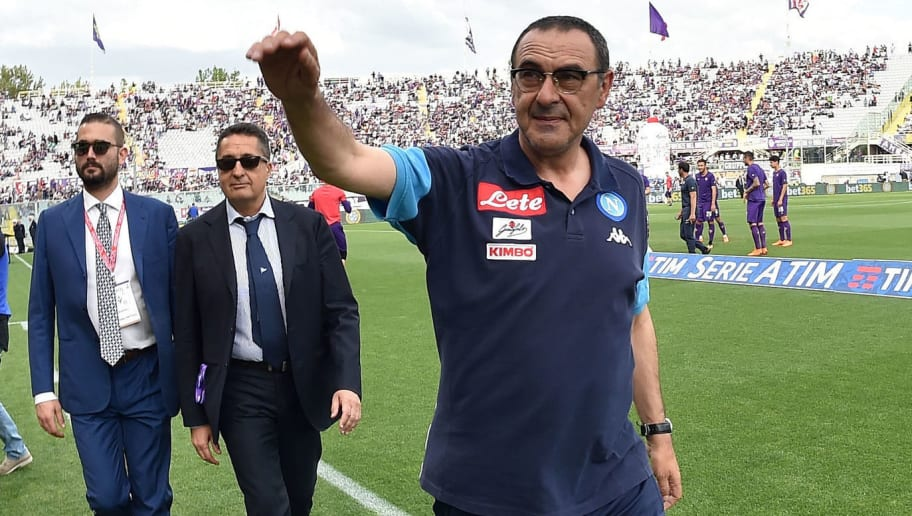 FLORENCE, ITALY - APRIL 29:  Maurizio Sarri head coach of SSC Napoli prior the Serie A match between ACF Fiorentina and SSC Napoli at Stadio Artemio Franchi on April 29, 2018 in Florence, Italy.  (Photo by Giuseppe Bellini/Getty Images)
