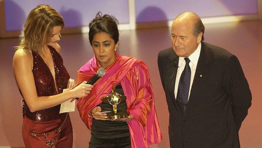 Actress Parminder K.Nagra receives the FIFA Presidential Award