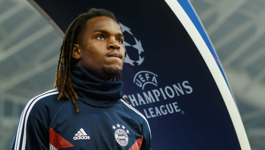 ATHENS, GREECE - OCTOBER 23: Renato Sanches of Bayern Muenchen looks on prior the Group E match of the UEFA Champions League between AEK Athens and FC Bayern Muenchen at Athens Olympic Stadium on October 23, 2018 in Athens, Greece. (Photo by TF-Images/Getty Images)