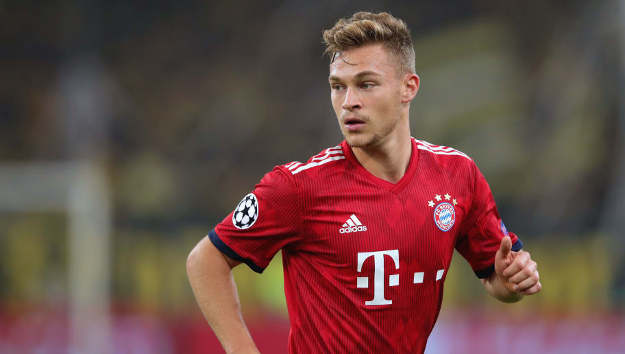 ATHENS, GREECE - OCTOBER 23:  Joshua Kimmich  of Bayern Muenchen runs during the Group E match of the UEFA Champions League between AEK Athens and FC Bayern Muenchen at Athens Olympic Stadium on October 23, 2018 in Athens, Greece.  (Photo by Alexander Hassenstein/Bongarts/Getty Images)